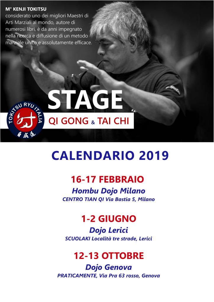 Calendario stage 2019